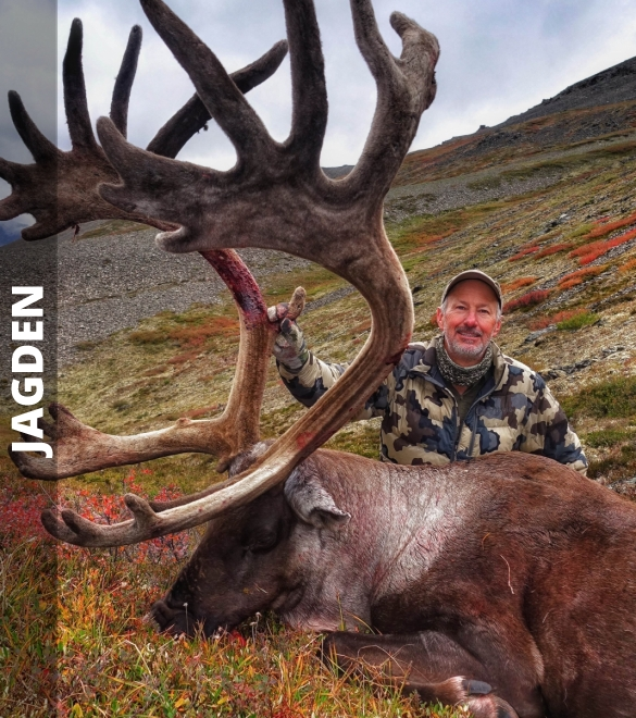 Hunter with Mountain Caribou